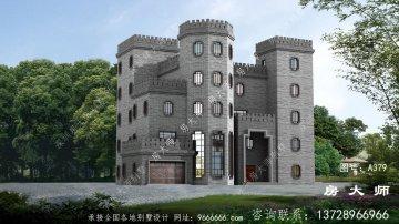 中式城堡别墅,奢华新农村别墅设