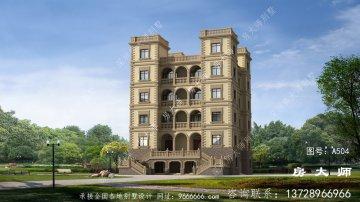 最新款西式城堡别墅设计图纸