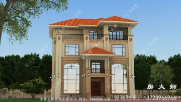 农村三层砖混结构别墅自建设计图