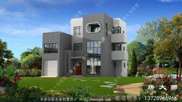 好用三层别墅自建房设计图,外型简约大