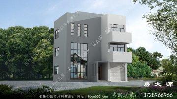 美观实用的三层别墅自建设计,外观简洁
