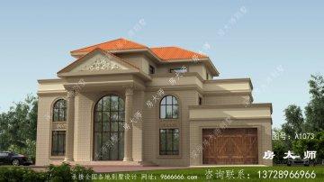 高档欧式三层复式别墅设计图纸及