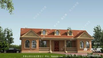 农村一层美式别墅设计效果图