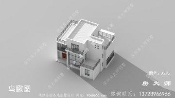 简单实用的三层别墅设计图,外观不错。