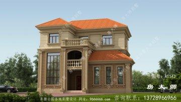 欧式复古三层复式别墅效果图