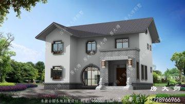 二层新农村别墅住宅设计图,外观清爽