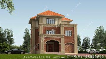 农村自建欧式风格三层别墅设计图