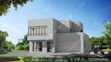 二层别墅自建房设计图,房型带一套房。
