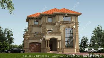 新农村欧式三层复式别墅