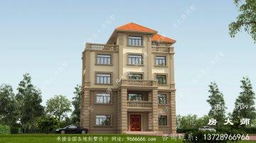 农村欧式五层大型别墅设计效果图