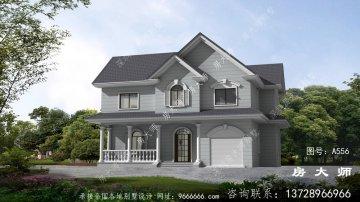 实用的美式二层别墅住宅设计图。