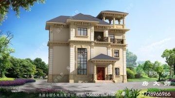 实用的三层别墅住宅设计图,户型方正
