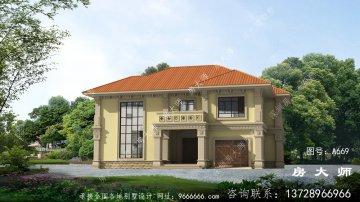 二层别墅设计,适合农村生活。