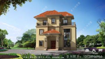 三楼别墅设计图,选择空客厅,适合农村
