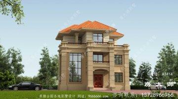 乡村欧式三层复式别墅设计图纸