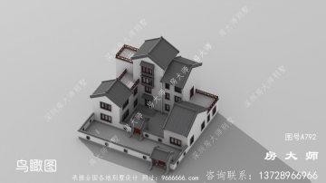 中式四层别墅设计图,包