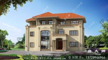三层别墅设计图,外型设计效果图很漂亮
