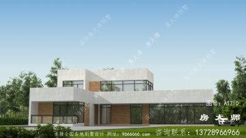 现代两层别墅独特设计效果图