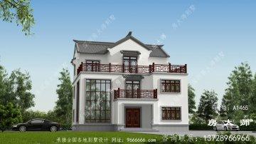 有品位的人都建中式三层别墅