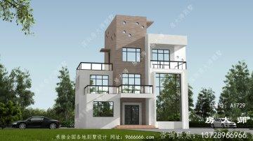 现代复式四层别墅设计效