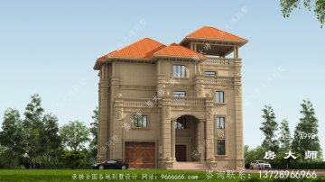 农村的三层砖混结构别墅设计风格简单