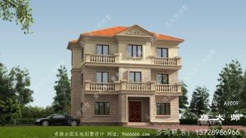 农村三层砖结构别墅设计布局图,简洁风