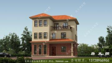 农村三层住宅设计图,时尚大方