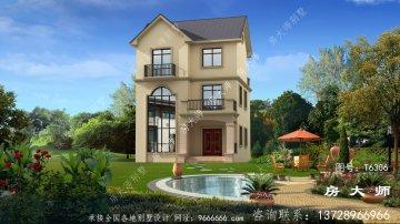 欧式小户型农村三层复式别墅设计