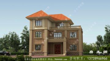 别墅式三层设计,高端外观,大气