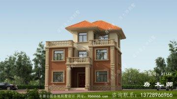 别墅设计为三层楼设计图,外观高档,大