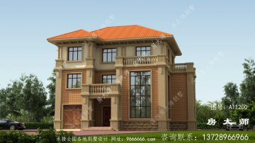 三层独幢楼房设计图,新农村建设建造房