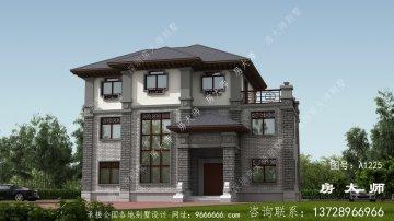 新农村自建住宅式三层单户建筑设计图