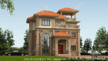 占地131平三层别墅设计图,小户型房子建