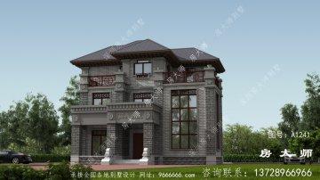 三层中式的设计图,新农村建造户
