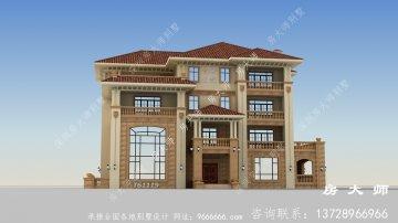 乡村四层欧式别墅设计图