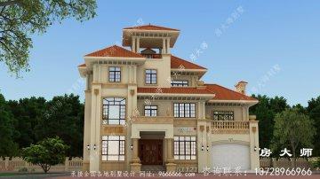 欧式华丽三层别墅设计图