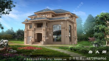 超豪华复式三层欧式别墅外观设计