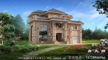 农村古典复式三层欧式别墅外观装