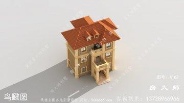 农村三层欧式别墅设计图纸及施工