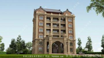 最美中式风格七层别墅效果图