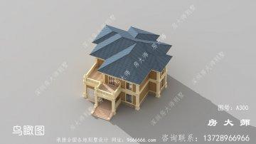 农村豪华二层简欧别墅设计图
