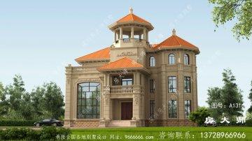 乡村新别墅的设计图美观大方。