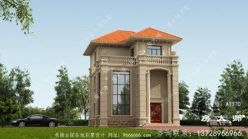农村自建的三层别墅布局