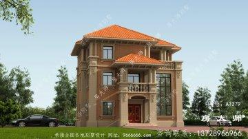 农村建三层别墅设计图,布局简单