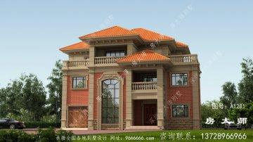 复式三层法式风格小别墅设计图