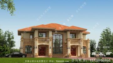 建瓯村二层别墅设计图宏伟美丽。