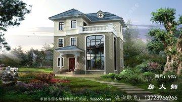 欧式风格三层复式农村别墅设计图