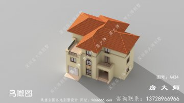 欧式高雅三层农村别墅设计图