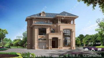简欧复式农村三层自建别墅设计图