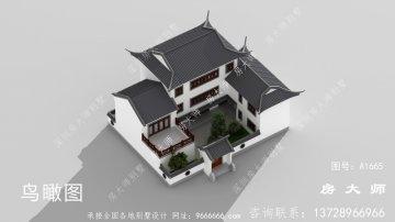 三层乡村别墅自建房设计图,一个